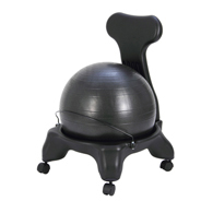 CanDo Plastic Mobile Ball Chair with Back