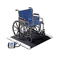 Detecto BRW1000 Portable Wheelchair Scale-1000 lb/400 kg Capacity
