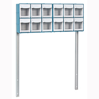 Detecto CAB12 12-Bin Organizer with Accessory Bridge