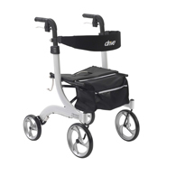 Drive Medical RTL10266WT Nitro Euro Style Walker Rollator-White