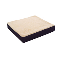 "Essential Medical N1106 Fleece Covered Wheelchair Cushion-16""x16""x3"""
