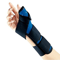 FLA Orthopedics 25-120UNNVY Soft Fit Thumb Spica-Navy-Universal
