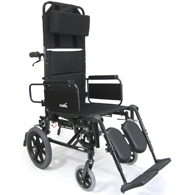 "Karman KM5000 Transport Wheelchair w/ Removable Desk Armrest-16"" Seat"