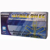 McKesson 14-050-M NITRILE 911 EC Powder Free Nitrile Exam Gloves-50/BX