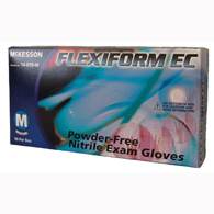 McKesson 14-070-XL FLEXIFORM EC Powder Free Nitrile Exam Gloves-50/Box