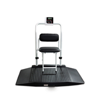 Rice Lake 350-10-4 Dual Ramp Wheelchair Scale with Seat (168354)